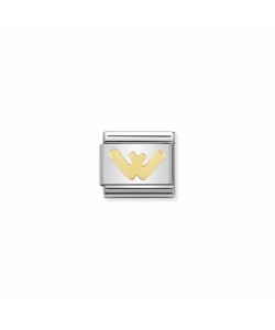 Composable Classic Link 030101 23 Letter W in 18K Gold