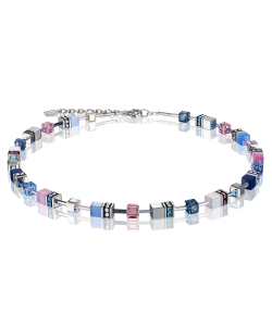 Coeur De Lion Necklace 2839100719 Geocube Blue Pink