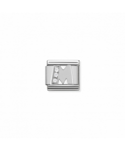 Composable Classic Link 330301 13 Letter M in Silver and Sto