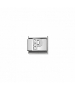 Composable Classic Link 330301 16 Letter P in Silver and Sto