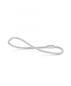 Riviere Bracelet White Gold 18Kt With Diamonds 1.00Ct