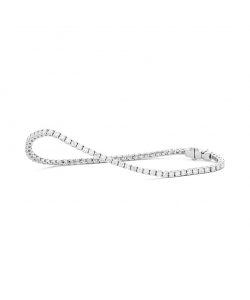 Riviere Bracelet White Gold 18Kt With Diamonds 2.00 Ct