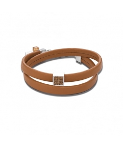 Coeur De Lion Bracelet 0117301120 Brown Pavé