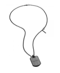 Police Necklace PJ26400PSUGR/03 Id Tag
