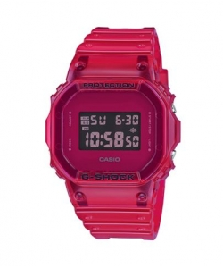 G-Shock Watch DW-5600SB-4ER Red Transparent