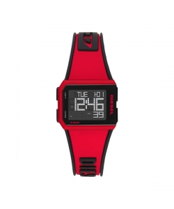 Diesel Watch DZ1923 Chopped Red Black