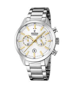 Festina Watch F16826/D Crono Silver Outlet