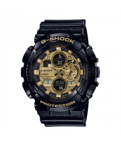 G-Shock Watch GA-140GB-1A1ER Black Golden