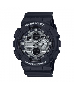 G-Shock Watch GA-140GM-1A1ER Black Silver