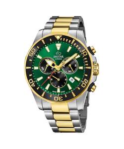 Jaguar Watch J862/3 Two-Tones Green Dial