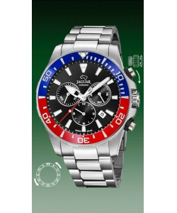 Jaguar Watch J861/6 Executive Blue Red Bezel