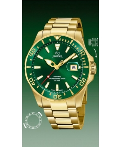Jaguar Watch J877/2 Executive Gold Green Dial