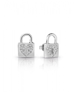 Guess Earrings UBE85053 Heart Lock