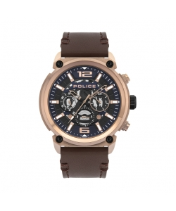 Police Watch PL.14378JSR-03 Armor Brown Leather