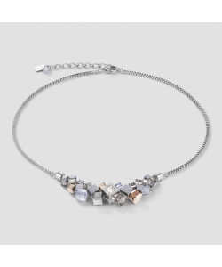 Coeur De Lion Necklace 5037101723 GeoCUBE® Cluster Silver