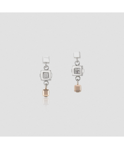 Coeur De Lion Earrings 5037211723  GeoCUBE® Cluster Silver