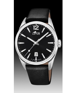 Lotus Watch 18693/3 Black Leather Gents