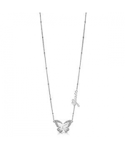 Guess Necklace UBN78024 Love Butterfly Steel