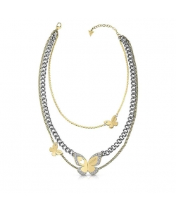 Guess Necklace UBN78036 Love Butterfly