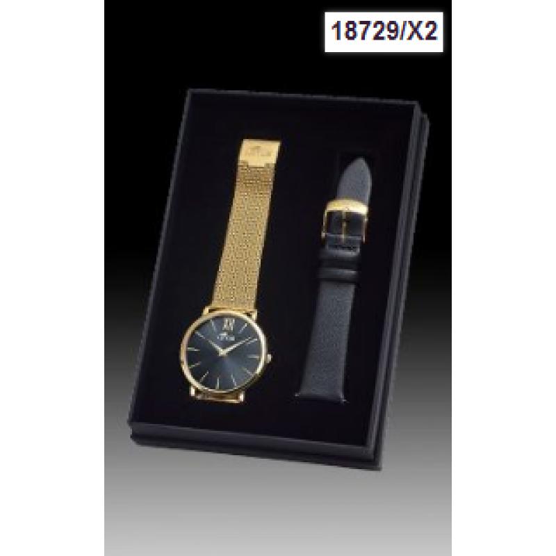 reloj lotus de mujer espera negra dorado